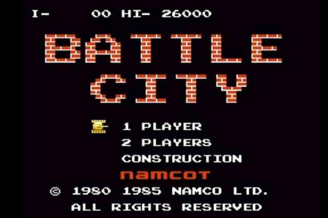 ナムコのレトロゲーム「バトルシティ」