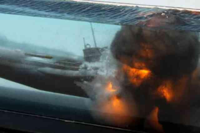 「終わりの始まり」U-ボート被弾の瞬間を再現した超クオリティジオラマ