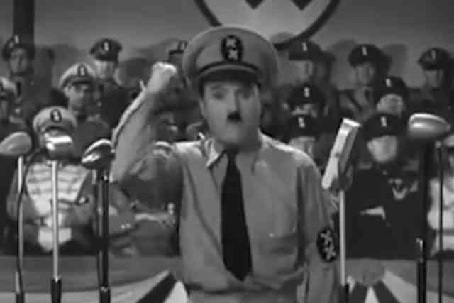 ナチスを痛烈に表現したチャップリンの「独裁者」