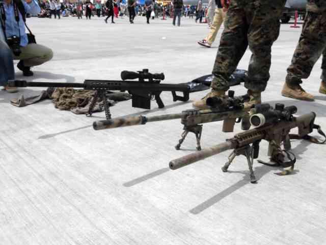 岩国基地で見た米海兵隊の銃火器