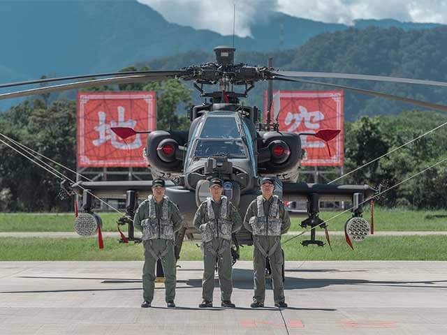 台湾陸軍がAH64E「アパッチ・ガーディアン」を実践配備