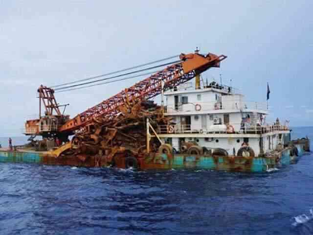 中国の海賊、沈没したイギリス戦艦から鉄屑を略奪?!