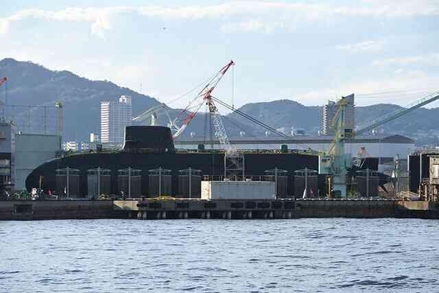 海上自衛隊の新潜水艦「おうりゅう」が進水