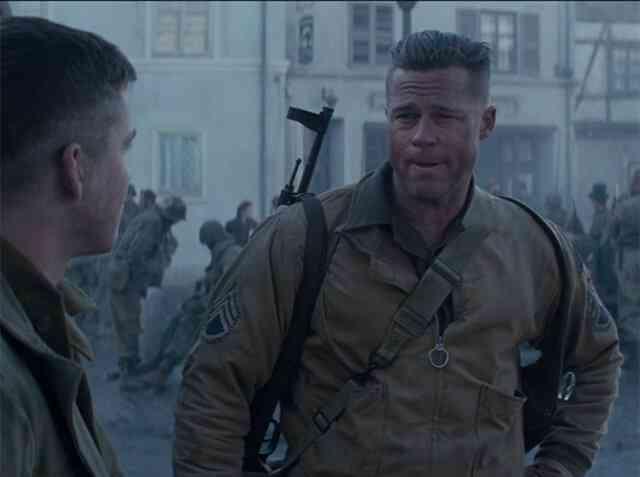 映画「フューリー」での主演ブラッド・ピットの銃