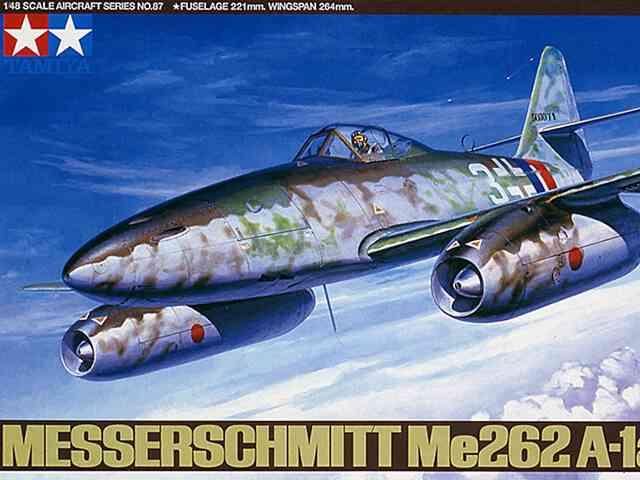 私見で語る、タミヤ 1/48 メッサーシュミットMe-262 A1a 制作の注意点