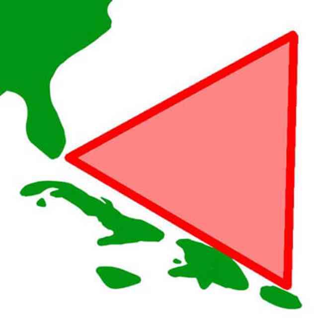 バミューダトライアングルの図